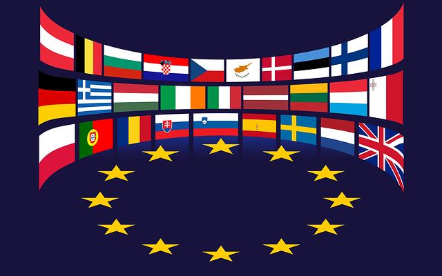 Evropská unie a vlajky světa